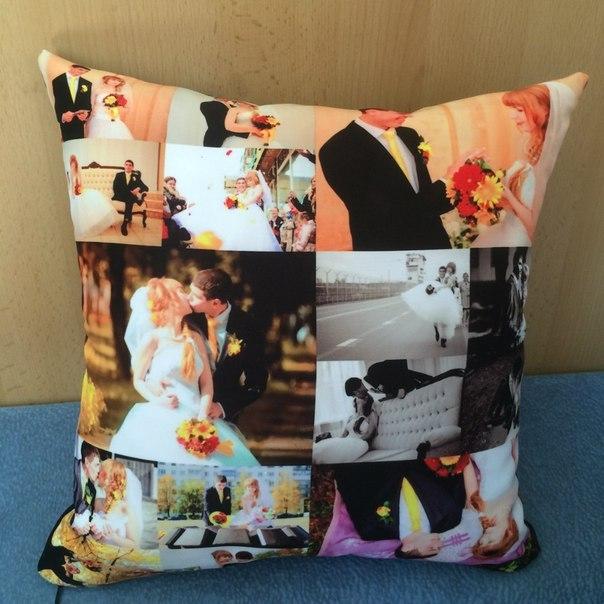 коллаж нескольких подушка в подарок с фотографиями подержанных легковых
